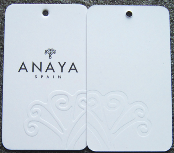 Custom Embossed Logo Hang Tags