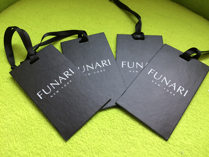 Matte Black Paper Hang Tags