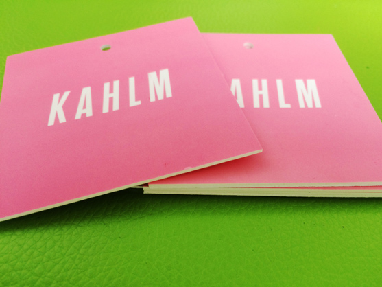 KAHLM Hang Tags With Soft Touch Coating