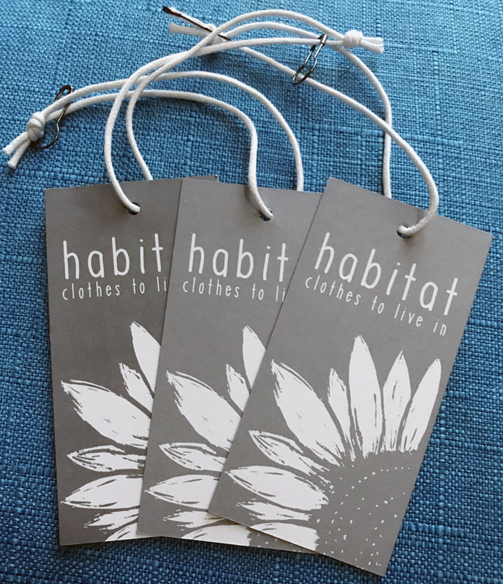 Habitat Clothing Uncoated Paper Hang Tags