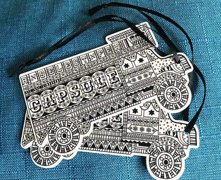 Car Shape Die Cut Clothing Hang Tags